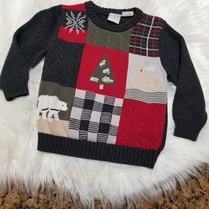 Good Lad Boy Knit Christmas Sweater Size 3T